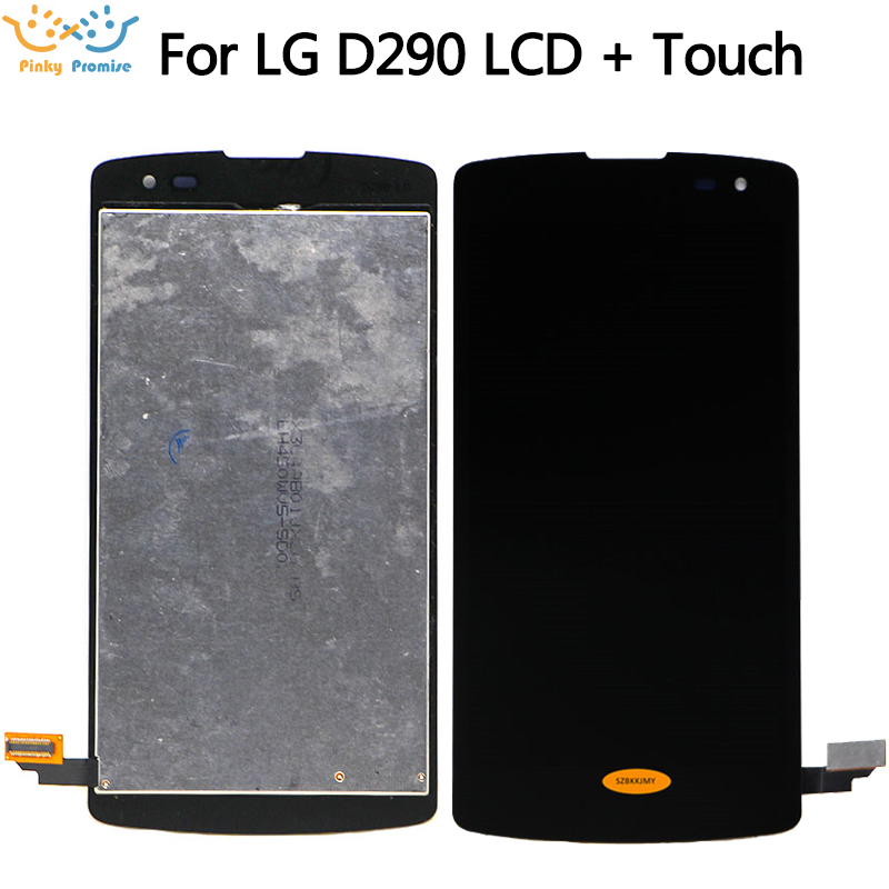 LCD Para LG Optimus F60 D390 L Fino D290 D290N D295 Display LCD de Toque Digitador Da Tela com quadro do meio Preto + ferramentas