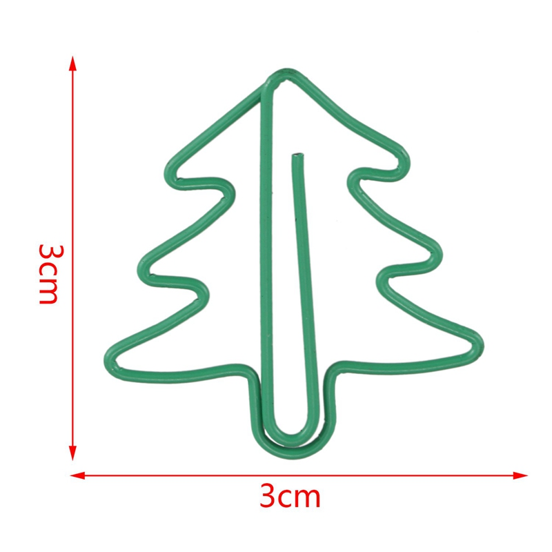 paperclips 24 pieces in PVC case Christmas tree