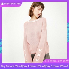 ONLY 2019 Spring Summer New Women's Lace-up Flared Sleeves Loose Fit Long-sleeved Pullover Knit  118113512