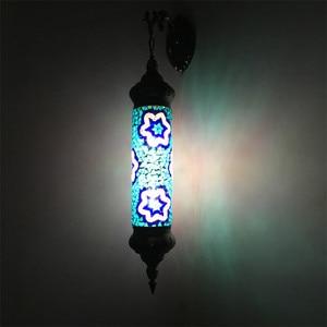 Image 2 - New Mediterranean style Art Deco Turkish Mosaic Wall Lamp Handcrafted mosaic Glass romantic wall light