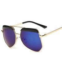 Лаура Фея Мода Цвет блок Для детей Солнцезащитные очки для женщин для бровей Дизайн зеркальные UV400 Обувь для мальчиков Обувь для девочек бол...