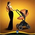 Carro de bebé lujo luz paisaje de alta plegable plegable de los niños pueden sentarse puede ser entrega libre de invierno y de verano