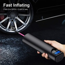 Tyre Inflator Cordless Portable Compressor Digital Car Tyre Pump 12V 150PSI Rechargeable Air Pump for Car Bicycle Tires Balls power 12v 150psi 2 cylinder car air compressor tire inflator pump universal for car trucks bicycle portable emergency heavy duty