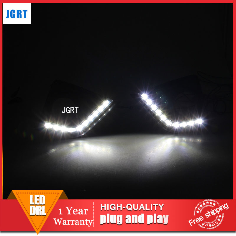 car styling 2014 For Toyota Corolla LED DRL For Corolla led fog lamps daytime running light High brightness guide LED DRL car styling auto headlight headlamp for toyota corolla 2013 2014 2015 bifocal lens guiding light best quality daytime running