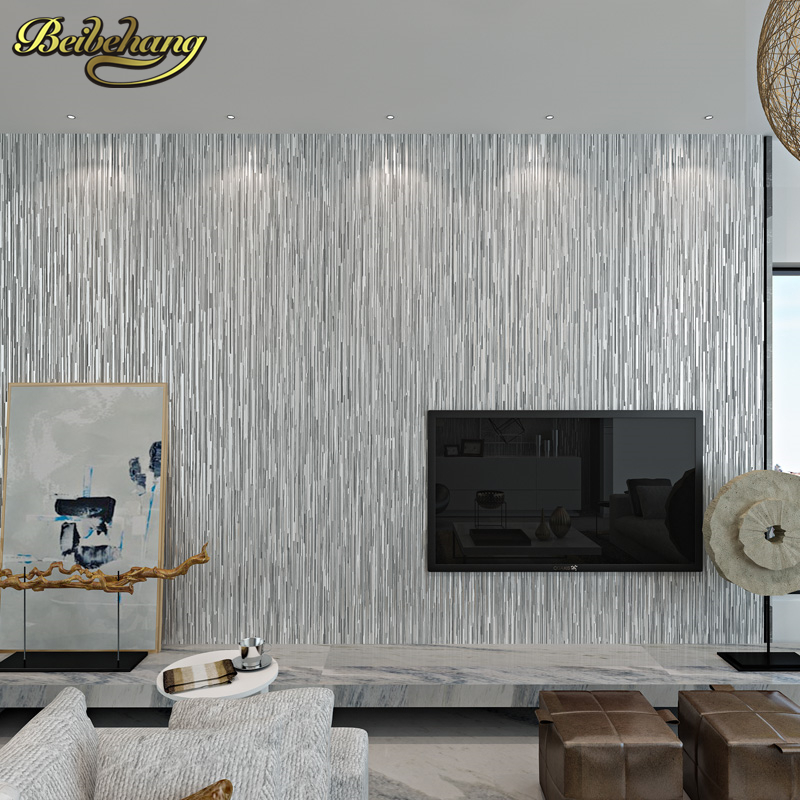 beibehang Metal solid color papel de parede 3D Wall paper For Wall 3 D Bedroom Wall paper roll Home Decor wallpaper for walls 3D beibehang classic feature solid wall paper plain stripe non woven home decor papel de parede 3d wallpaper roll for bedroom white