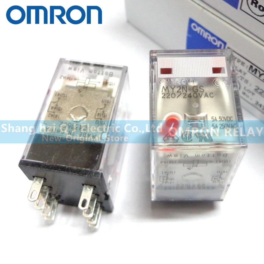 OMRON ORIGINAL MY2N 24 VDC OMRON RELAY . LOT OF 3 ..