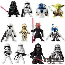 4 pçs/set Stormtrooper Star Wars darth maul Darth vader Yoda CAPITÃO PHASMA r2d2 pvc action figure toy modelo(China)
