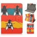 Universal 10 pulgadas Caja de la Tableta de Moda Hebilla Magnética Del Tirón de LA PU Cubierta Del Soporte Del Tirón Casos de Cuero para 9.7 ~ 10.1 pulgadas Tablet