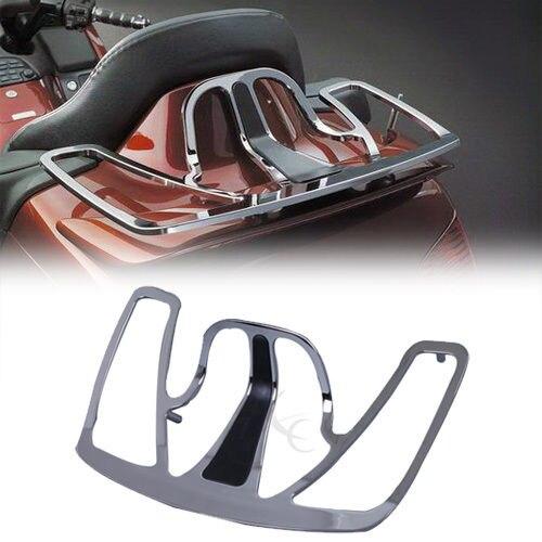 Chrome Tronc Bagages Rack En Aluminium Pour 2001-2013 Honda Goldwing GL1800 GL 1800 02 03 04 moto