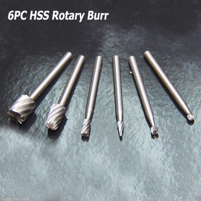 6PC Woodworking Tools drill HSS bit set wood carving tools drill burr tools for woodworking diamond glass drill bits
