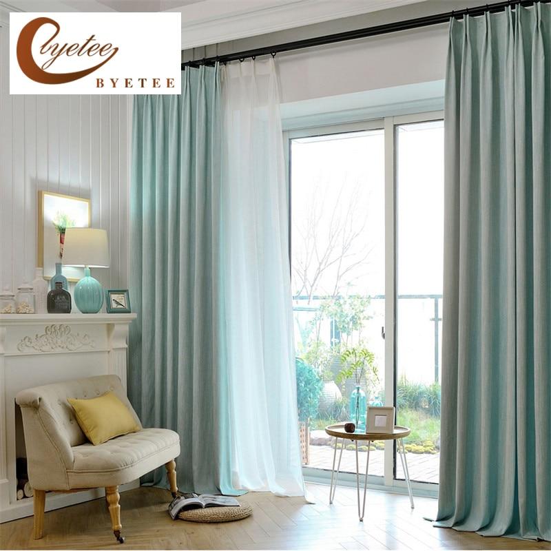 Rideaux de couleur solide pour les tissus de rideaux de fenêtre - Textiles de maison