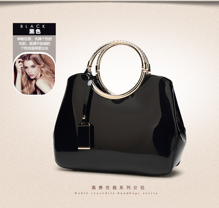 Promotion of new women's bags,Patent Leather Women Bag Ladies Cross Body Shoulder Bags Handbags Blue one size 31