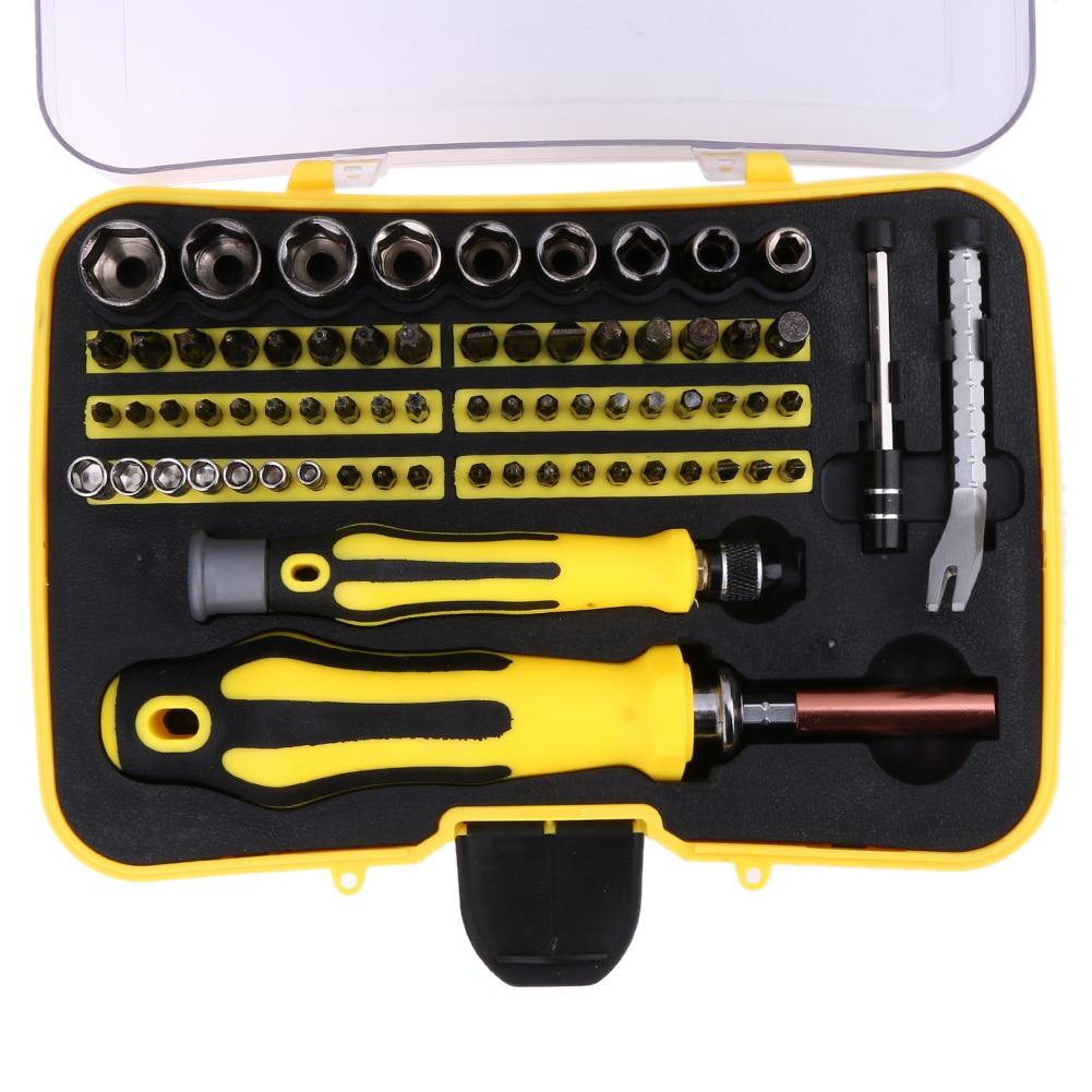Torx 69 In 1 Multi Bit Screwdrivers Set Screw Driver Repair Tools for PC Camera Watch Hand Tools Set Screwd Ferramentas 37 in 1 multi bit screwdrivers set black yellow
