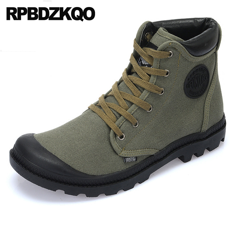 outdoor winter tactical combat booties plus size casual denim boots military canvas shoes men high top green sneakers faux fur mint green casual sleeveless hooded top