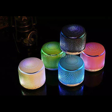 MINI Wireless Bluetooth Led Light Speaker Colorful USB Speakers Support FM Raido TF Card Music Sound Box For Computer Speaker
