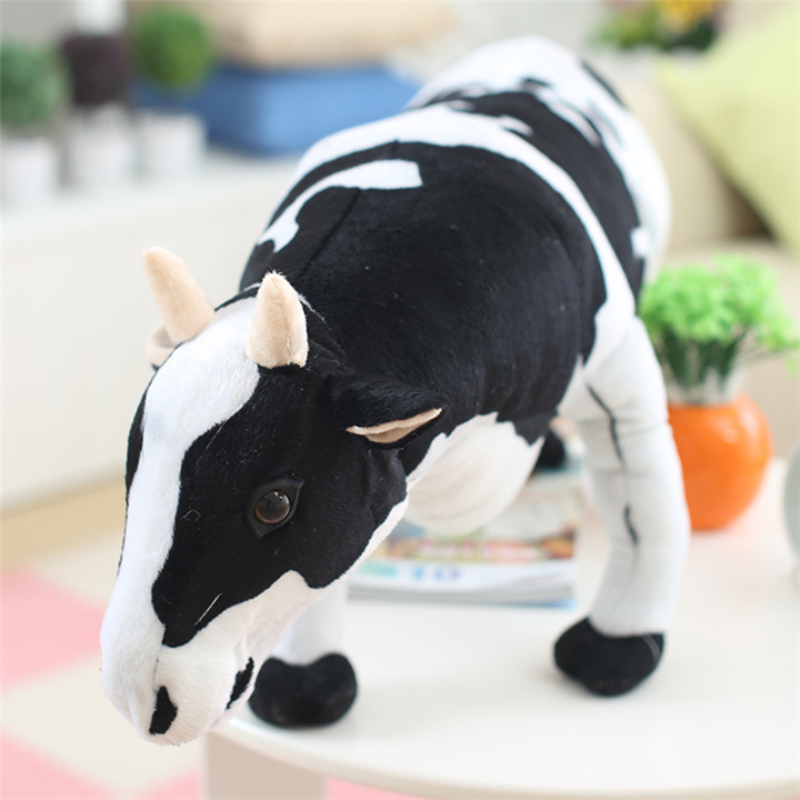 New Hot Stuffed Plush Animal Toy The Cute Simulation Cow Plush Toy Activity gifts Stuffed Doll Great Birthday Gift plush toy simulation gray cat doll stuffed animals toys cute birthday gifts