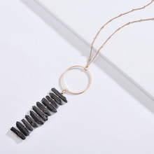 2019 New Arrival Jewelry Natural Metallic Quartz Stone Pendant Statement Necklaces for Women