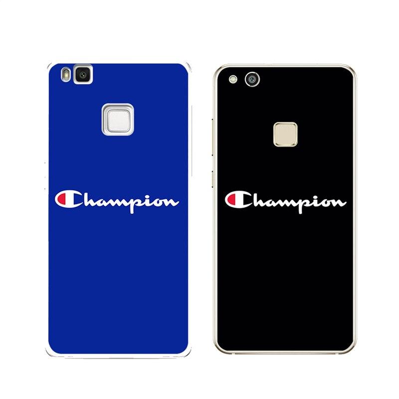 Для Huawei P8 <font><b>p9</b></font> P10 <font><b>Lite</b></font> <font><b>2017</b></font> чехол Чемпион Coque чехол задняя крышка Роскошные Ясно Телефон Мягкие TPU силиконовый чехол