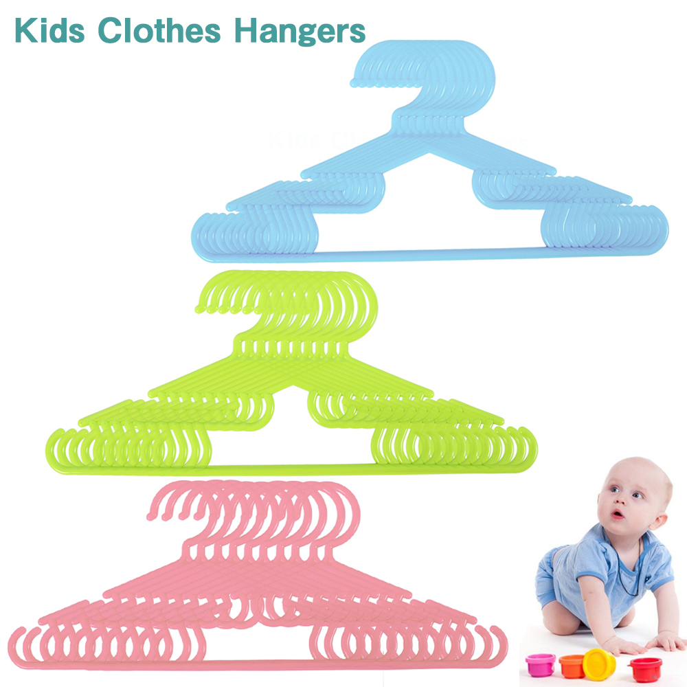 10pcs Lot Baby Clothes Hangers Plastic Outdoor Drying Rack
