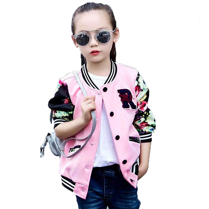 Big Girls Bomber Jackets Fashion Autumn 2018 Children Clothing Cotton Single Breasted Cardigan Jacket Kids Blazer Sports Coat single breasted lapel flap pocket business blazer