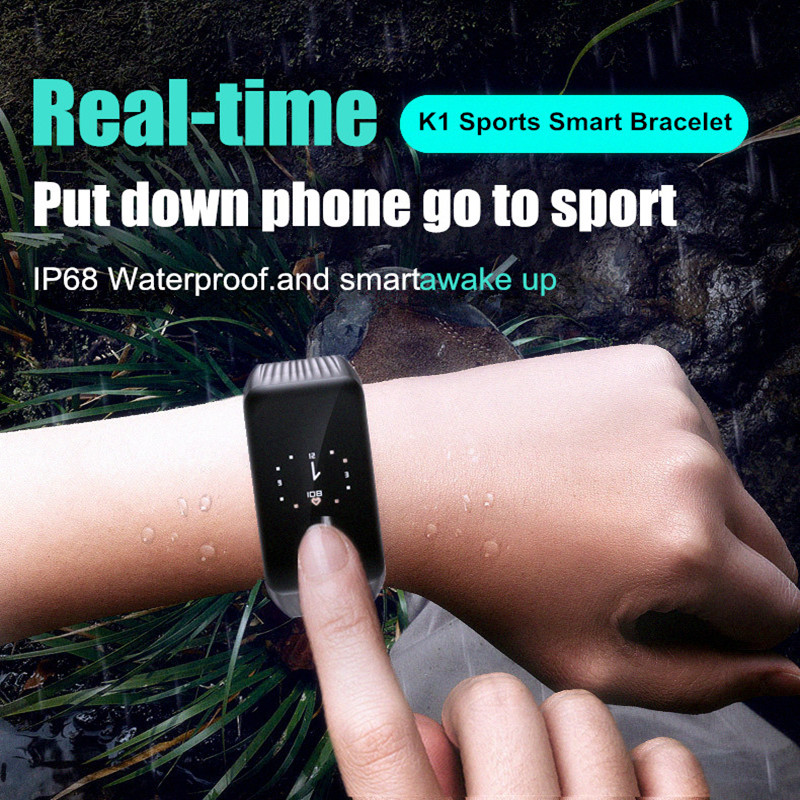 K1 Waterproof Smart Watch Fitness Tracker Activity Wristband Real-time Heart Rate Monitor Pedometer Sleep Monitor Smart Bracelet