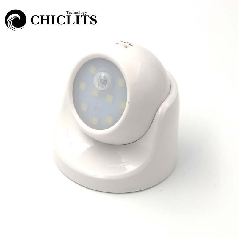 CHICLITS 360 Degree Rotation Security 9 LED Led Motion Sensor Night Light Wireless Auto On/Off PIR Detector Lamp Wall Lamp wireless infrared sensors led lamp 3v 8leds pir auto sensor motion detector led bulb energy saving cabinets garage night light
