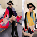 Luxury brand women winter cashmere scarf monster pashmina large cute blanket fashion shawl 200*70cm
