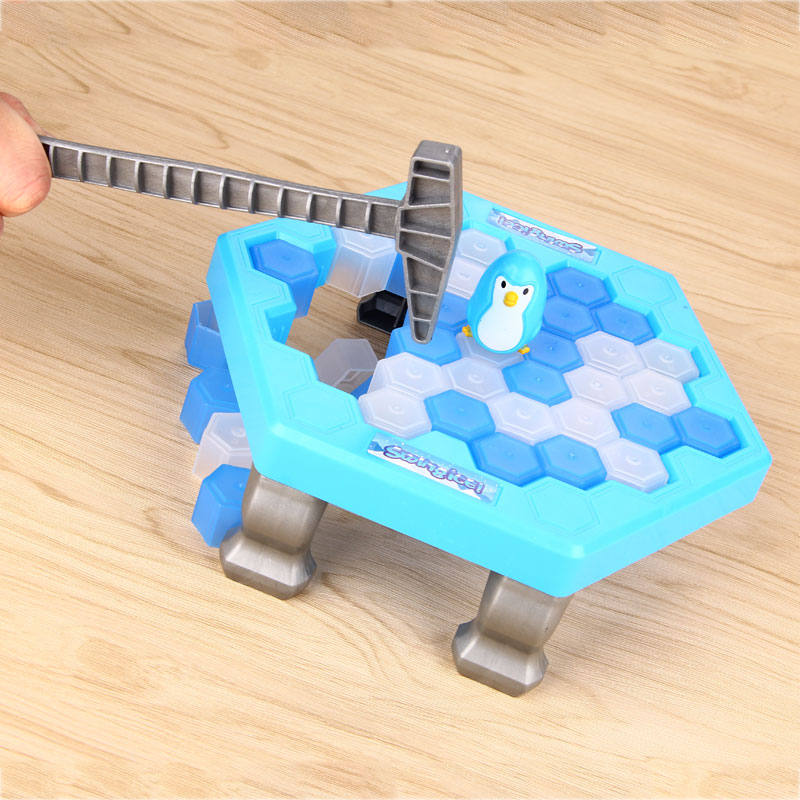 Interactive Ice Breaking Table Penguin Trap Children Funny Game Penguin Trap Activate Entertainment Toy Family Fun