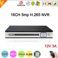 5mp/4mp/3mp/2mp/1mp IP Kamera Silber Panel Hi3536D XMeye H.265 + 5mp Audio 16CH 16 kanal Onvif IP NVR Kostenloser Versand