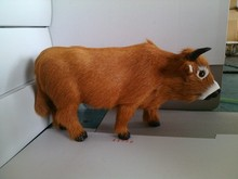 simulation cattle 27x23cm model toy polyethylene furs standing cattle hard model decoration birthday gift t337