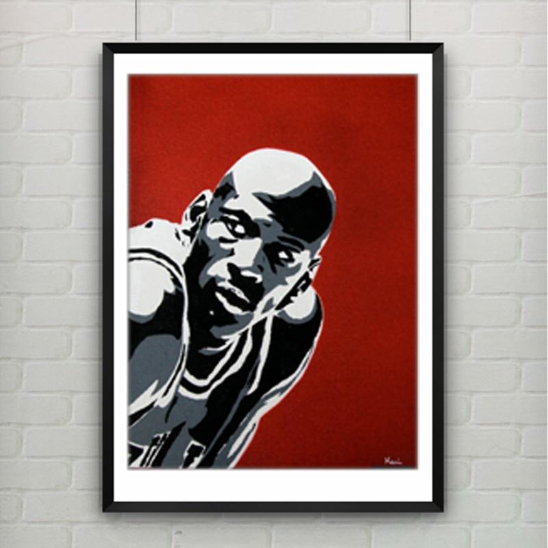 Michael Jordan Poster Leinwand Malerei Wandbild Leinwand drucke ...