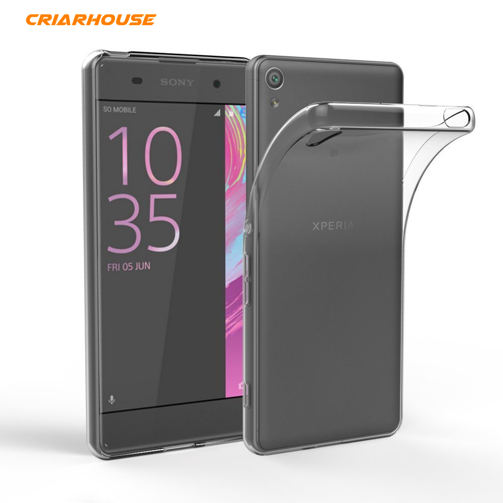CRIAR HOUSE For Sony Xperia X XA XA1 Ultra Performance Compact XZ Premium Transparent Clear Soft TPU Silicone Crystal Cover Case