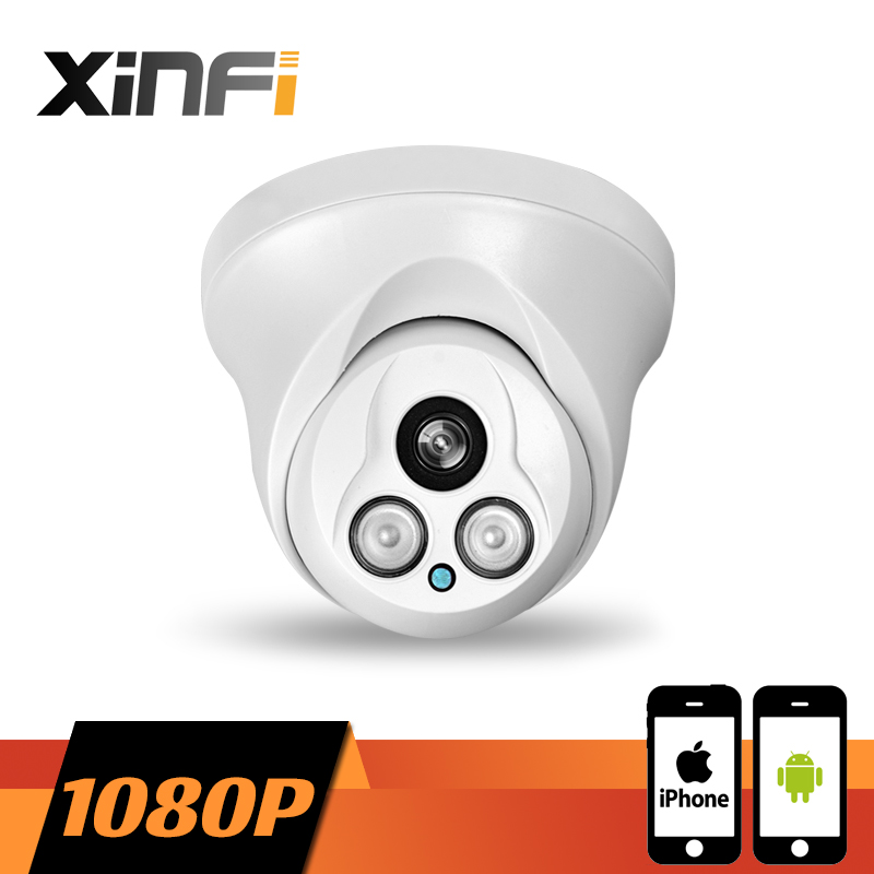 ФОТО XINFI HD 1920*1080P Indoor network CCTV IP camera Surveillance dome Camera 2.0 MP P2P ONVIF 2.0 PC&Phone remote view
