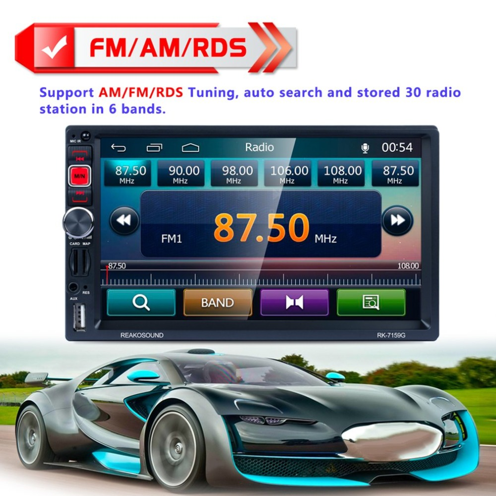 7 inch Car MP5 Player LCD Touch Screen Rear View Bluetooth Fast Charge FM/RDS Car Radio HD GPS Navigation Car Multimedia Player a gauge 7 inch lcd at070tn94 highlight navigation screen screen