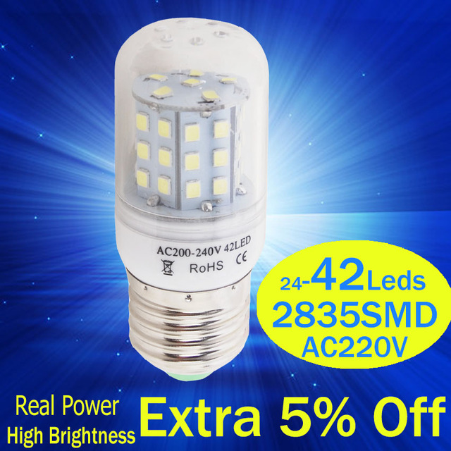 LED ampoule 220v E27 E14 bougies LED lumière Lamp240v AC éclairage décoratif intérieur