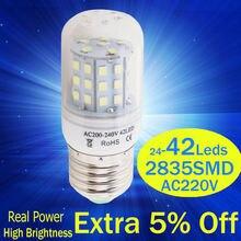 Светодиодная лампа 220 В e27 e14 светодиодные свечи переменного