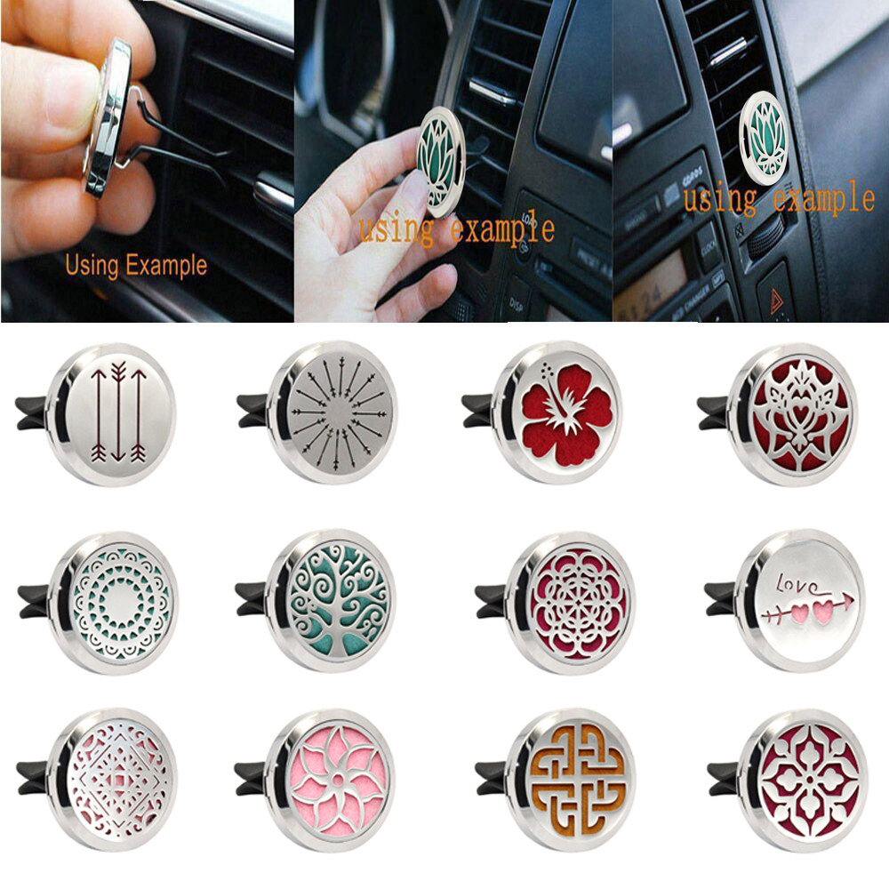 Stainless Car Air Auto Vent Freshener Essential Oil Gift Decor Clip Decoration Accesorios De Coche #yl1 Be Shrewd In Money Matters Air Freshener Interior Accessories