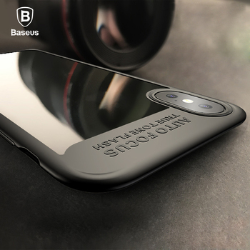 Baseus Phone Case For iPhone X Thin Phone Luxury Fashion PC+TPU Hybrid Armor Case For iPhone X Cases Ultra Thin Phone Cover Capa