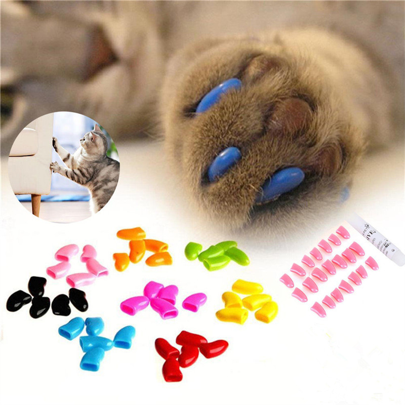 Colorful font b Pet b font Cat Claw Covers Environmental PVC Dog Paws Decoration Nail Caps