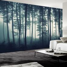 Пользовательские фото обои 3D Плотный туман лес дерево настенные фрески гостиная ТВ диван спальня настенная живопись природа пейзаж обои