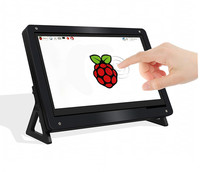 New 7 inch 1024x600 USB HDMI LCD Display Monitor Capacitive Touch Screen Holder Case For Raspberry Pi 3 B+ 3B Plus