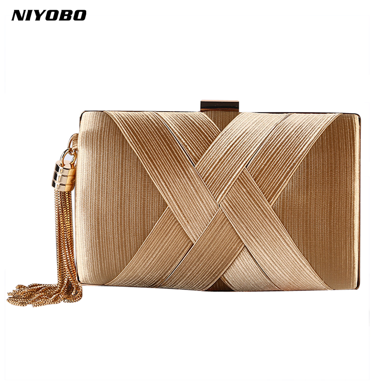 2018 women clutch bag female silk envelope purse evening clutch bag designer Luxury Party Gold Wedding Clutches Bags