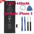 2 pcs genuine substituição da bateria 3.8 v 1440 mah para apple iphone 5 + ferramentas