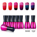 Beau Gel Base Top Coat Gel Polish + 6 Colors Thermal Temperature Color Changing Gel Varnish for Nail Art Design