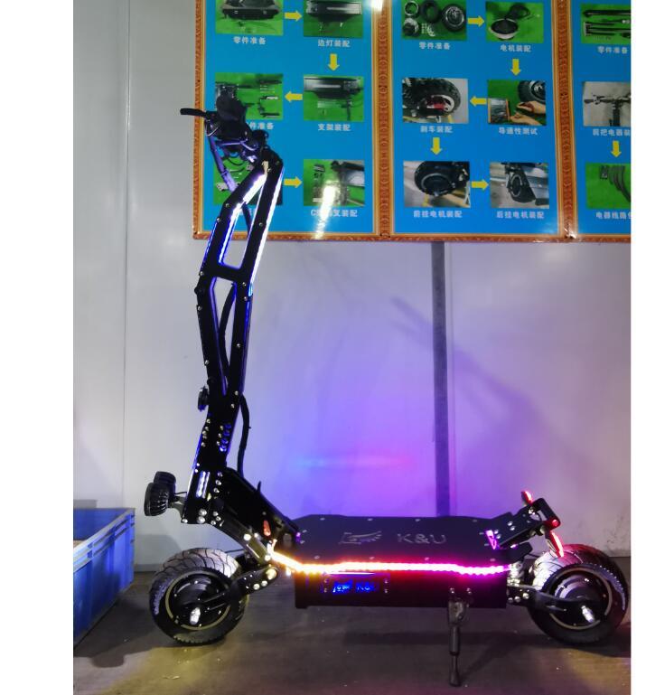 Scooter électrique 5000W 95KMH 11 pouces deux moteurs roue E Scooter moteur Brushless pliable planche à roulettes Trotinette Electrique Adulte