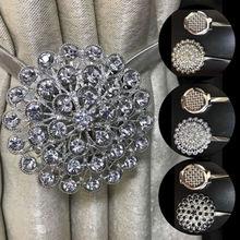 Один цветок и алмаз магнитные хрустальные занавески подхваты для штор с завязками пряжки зажимы Великобритания