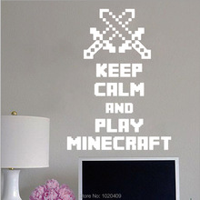 wall sticker Minecraft Game Words PVC wallpaper diy poster wall stickers home decor living room
