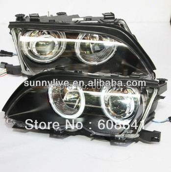 For BMW E46 4 doors CCFL Angel Eyes Head Lamp 2001-05 year
