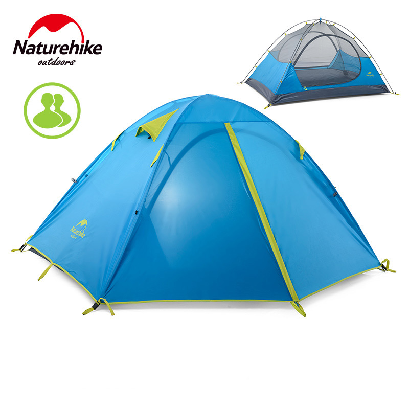 Naturehike Kit 2-3 Person Tent Outdoor Camping Tent 190T Fabric Windproof Waterproof  Double Camping Mountaineering high quality outdoor 2 person camping tent double layer aluminum rod ultralight tent with snow skirt oneroad windsnow 2 plus