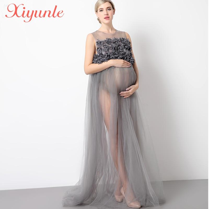 Accessoires de photographie de maternité vêtements de grossesse robes de soirée de fête vêtements de maternité pour les séances Photo robes enceintes